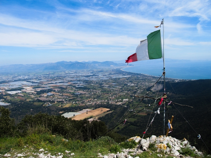 In cima a Monte Circeo