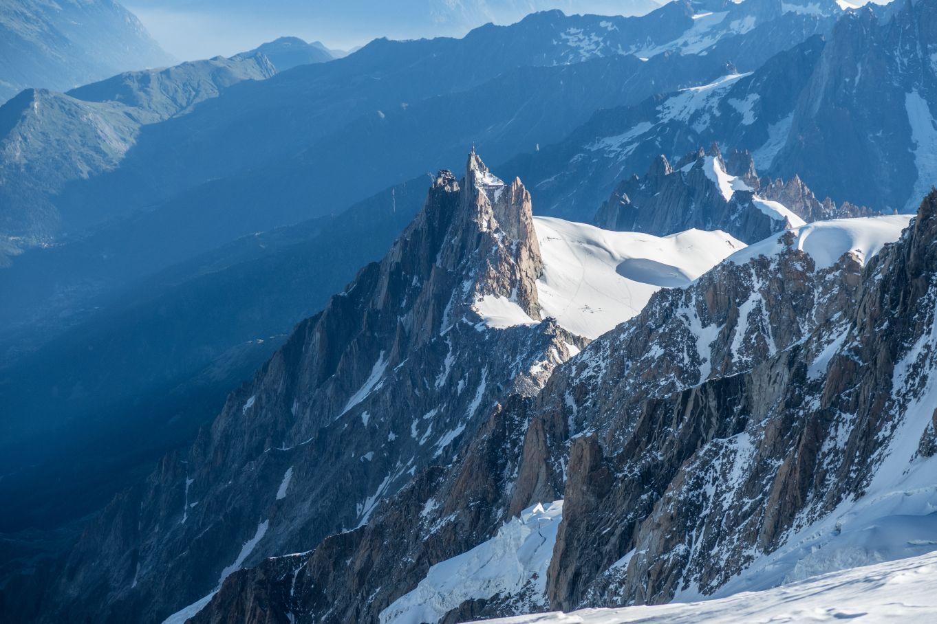 Aiguille du Midi e Rifugio des Cosmiques