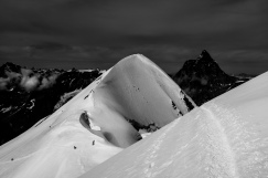 Cresta che dal Breithorn centrale va all'Occidentale