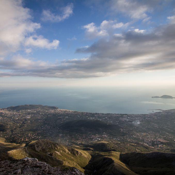 Panorama sul Litorale di Formia e sulla costa del Tirreno - da Gaeta a Mondragone, passando per Scauri