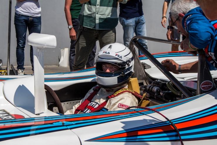 Riccardo Patrese su Lancia Martini LC1